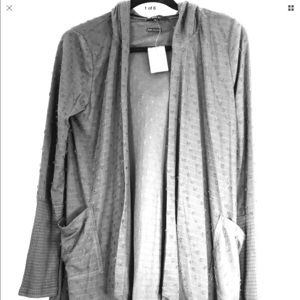 Miss Me gray cardigan, very soft! Size L, NWT!!